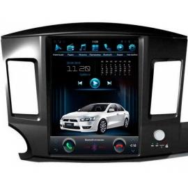 Штатная мультимедийная система в стиле Tesla для Mitsubishi Lancer X