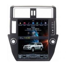Штатное головное устройство в стиле Тесла для Toyota Land Cruiser Prado 150