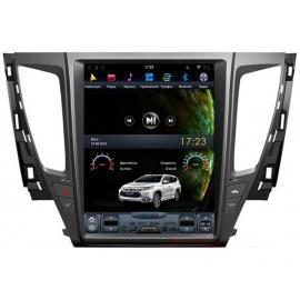 Штатная мультимедийная система в стиле Тесла для Mitsubishi Pajero Sport 2017