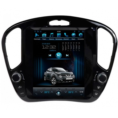 Штатная мультимедийная система в стиле Tesla для Nissan Juke